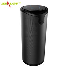 Wholesale Control Seal - Wholesale- Zealot S8 Bluetooth speakers Touch Control Wireless Portable Outdoor Double horn sound Strong bass Aux Audio TF Card subwoofer
