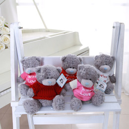 Wholesale Valentines Stuffed Teddy Bear - Wholesale- Wholsale 5pcs lot Cartoon Giant Plush Teddy Bear Stuffed Toys Cute Bears Dolls Birthday Valentines for Kids Christmas Gift