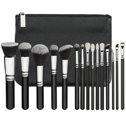 Wholesale Pieces Bags - high quality HOT NEW ZOV Brushes Makeup 15 piece Professional Brushes Kit Foundation Brush Luxury Bag Black free shipping