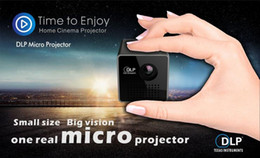 Wholesale Mini Phone Projectors - Origional UNIC P1+ projector Mini Portable home HD LED Projector WIFI Wireless DLP For Android mobile phone