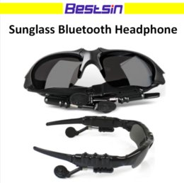 Wholesale Headset For Mp3 Player - Sunglasses Bluetooth Headset Wireless Sports Headphone Sunglass Stereo Handsfree Earphones mp3 Music Player for universal phones