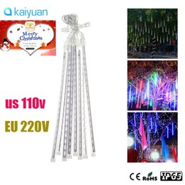 meteor lights Promo Codes - LED Meteor Light 30cm waterproof Meteor Shower Rain Tubes LED Lighting 8pcs set for Party Wedding Decoration Christmas Snowfall Tree Garden