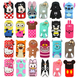 Wholesale S4 Mini Silicon - For Samsung Galaxy S3 Mini S4 Mini S5 Case Cute Hot 3D Cartoon Minnie Mouse Soft Silicon Cover For Samsung Galaxy S6 edge S7 edge Phone Case