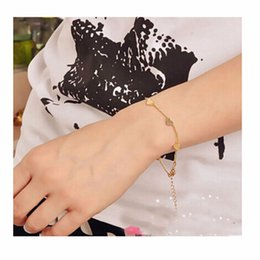 Wholesale One Direction Bracelets Cheap - Wholesale-L151 Hot Fashion Bijoux Cheap Charm 14K Gold Plated Heart Bracelets New 2016 Men and Women Bangle Wedding Jewelry One Direction