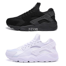 Wholesale Womens Flat Leather Shoes - 2016 Air Huarache Running Shoes for Men Sneakers Womens Black Huaraches White Sports Trainers Breath Huarache Ultra Run Free Shipping
