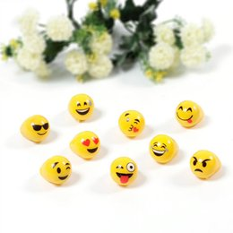 Wholesale Light Up Party Supplies - 2017 Hot Emoji LED Rings Toys Flashing Smile Expression Rings Light Up Finger Rings Festival Party Supplies Lighted Toys