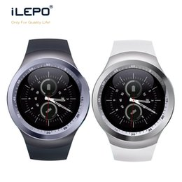 Wholesale Round Touch Screen Watches - 2017 Y1 New smart watch with Round Touch Screen Water Resistant Bluetooth SIM Card Slot smart wrist phone watches for IOS Android