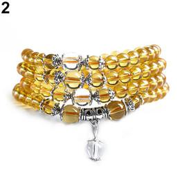 Wholesale Mala Prayer Bead Necklace - 6mm Crystal Stone Buddhist Amethyst 108 Prayer Beads Mala Bracelet Necklace BS4Z