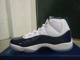 Wholesale University Rubber - basketball shoes retro 11s Win Like 82 University Blue Midnight Navy 378037- 123 sneaker