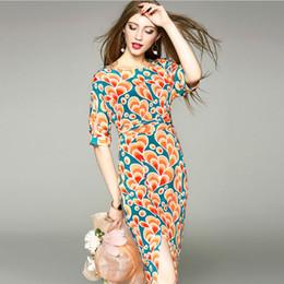Wholesale Intellectual Dress - 2017 summer new Europe stamp sexy dress dress simple intellectual poor printing split step skirt waist