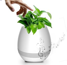 Wholesale Wireless Induction Speakers - Music Green Plant Smart Bluetooth Speaker Music Flower Pots Home Office Decoration Green Plant Music Vase Touch Induction Creative Night lig