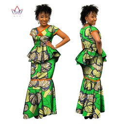 Traditional design dresses im Angebot-BRW afrikanischer entworfener  Rocksatz für Frauen traditioneller Bazindruck 2 Stück 00e6a27a0a3e
