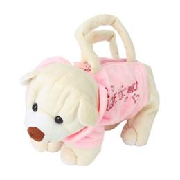 Wholesale Cute Cell Phone Plush - Wholesale- Cute Bear-Shape Plush Bag Handbag Purse for Children - Pink and Beige