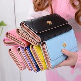 Wholesale Wallet Purse Crown - Women Crown Long Purse Leather Wallet Mutil-card Holder Handbag Zipper Bags Phone Card Holder Rhombic Handbag Bags 9 Colors OOA2975
