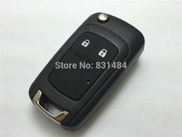 Wholesale Flip Key Chevrolet - Replacement Folding Remote Control Car Key Blank for chevrolet epica lova spark remote flip key case 2 Button fob