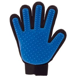 Wholesale Wholesale Sporting Gloves - True Touch Dogs Deshedding Brush Glove Pet Cat Gentle Efficient Massage Gloves Dog Grooming Products