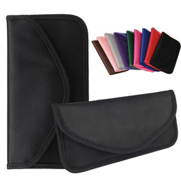 Wholesale Cellphone Wallet Cases - Universal Anti-radiation Bag, Anti-tracking Pouch Anti-spying GPS RFID Bag Wallet Phone CellPhone Case Cover Pocket for iphone Cards