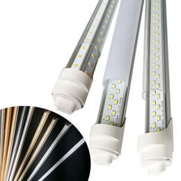 Wholesale Cree Led Fixtures - cooler door led light r17d led tube fixtures T8 45W 8 feet 96 inch double row 72W Daylight 4000-5000K Cold White 6000-7000K us