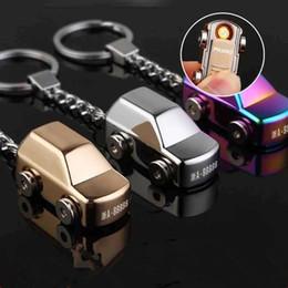 Wholesale Mini Keychain Lighters - Keychain car cigarette lighter mini Portable usb lighters gift set free shipping