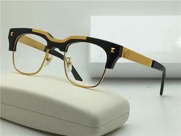 Wholesale Medusa Glasses - new Medusa glasses prescription Semi-rimless eyewear gold plated vintage men frame vs427 face logo with original case clear lens optical