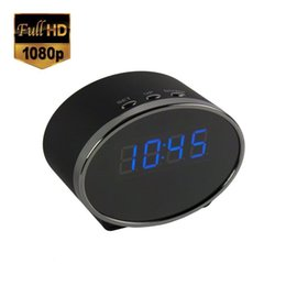 Wholesale Wi Fi Android App - 1080P Wireless Wi-Fi Spy Camera Clock Android IOS App-Enabled Hidden Cam Night Vision LED Motion Activated Security Surveillance