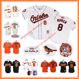 Wholesale Baltimore Orioles Jersey Xl Black - Cal Ripken Jersey with Retirement Patch Brooks Robinson Jim Palmer Eddie Murray Baltimore Orioles Jerseys Cooperstown Throwback
