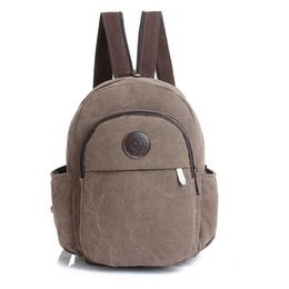Wholesale Multifunctional Style Women Backpack - Wholesale- Vintage Fashion Women Mini Backpack Women's Backpack Multifunctional Canvas Bag Travel Rucksack Small Chest Pack Girl Schoolbags