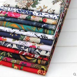 Wholesale Dress Fabric Textile - Freeshipping 10 colour ethnic patchwork-cotton-fabric silk dresses,textiles curtain,print satin fabric,floral cheap fabric scrapbooking B128