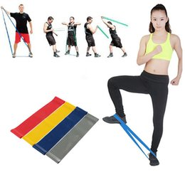 Wholesale Pc Exercise - 4 pcs set 2016 New Hot Multi-colored Pilates Yoga Crossfit Latex Fitness Resistance bands Workout Exercise Band Free Shipping