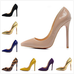 Wholesale Sexy Gold High Heels - Fashion new Womens Sexy 12cm High Heels,wedding shoes with Thin Heels 35-42 Free shipping