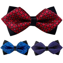 Wholesale Check Shirt Fashion Men - Wholesale- Fashion Apparel Bowknot Bowties For Men Popular Polyester Men's Bowtie Cravats Ties Brand Newest Business Shirts Bow Tie Wedding