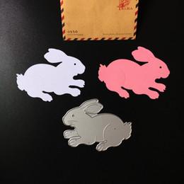 Wholesale Metal Craft Ornaments - Hare Ornament Metal DIY Cutting Dies Stencil Scrapbook Card Album Paper Embossing Craft