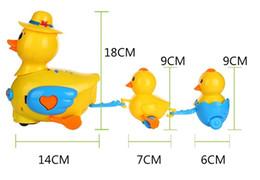 Wholesale Mother Duck - Children electric kiss ducks universal rhubarb duck children toy music lights a mother duck toy animals