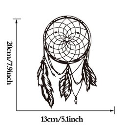 Wholesale Computer Window Decals - Dream Catcher Wall Stickers Computer Sticker Home Decor Car Styling Decals Window Decoration Vinyl Adhesive Art Decal Mural