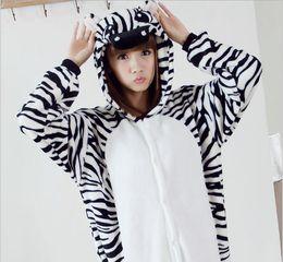 Wholesale Adult Zebra Onesie - Fancy design new zebra onesie pajama for adult