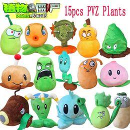 Wholesale Zombie Stuffed - Wholesale-1pcs Plants Vs Zombies 2 Stuffed Plush Toys Doll PVZ 15-20cm Plants Soft Plush Toy for Kids Party Toys 15 Styles to Optional