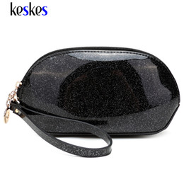 Wholesale Patent Hobo - Wholesale- Candy Color Women Clutch Bags Casual Clutches High Quality Light Patent Leather Semicircular Female Tote Lady Clutches ZCP104