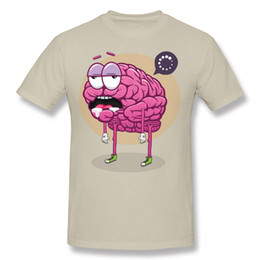 Wholesale Blue Brains - Hot sell Halloween funny Brain Loading 3D cartoon print T-shirt youth men's casual sports shirt round neck short sleeve sweat