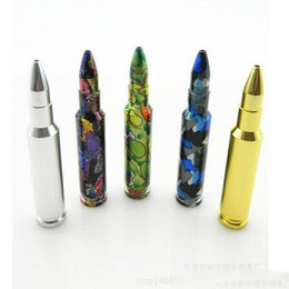 Wholesale Glass Dispensers Wholesale - Wholesale Aluminum Metal Bullet Rocket Shaped Snuff Snorter Sniff Dispenser Nasal Smoking Pipe Sniffer glass bongs Endurable Tobacco Pipe