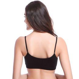 Wholesale Girls Spandex Underwear - Women Sports Bra Crop Top NO PAD Yoga Bra Fitness Gym Tank Tops Quick Dry Girls Wirefree Breathable Underwear Bra Tops