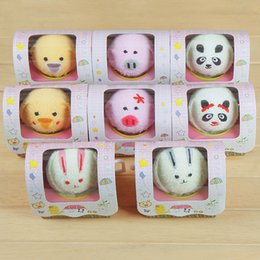 Wholesale Cotton Cakes Towel - Animal Cake Towel Mini Square Towel Cotton Washcloth Hand Towels for Christmas Wedding Birthday Gifts