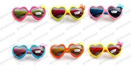 Wholesale Baby Beach Sun Shade - Sun Glasses for Toddlers Kids Plastic Frame Sunglasses Girls Baby Bowknot Cat Eye Shades Goggles Eyewear UV400 GLO