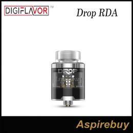 Wholesale Large Caps - Digiflavor DROP RDA Tank 4 Large Post Holes Stepped Airflow Design Deep Space Locking Top Cap Standard Edition 100% Original