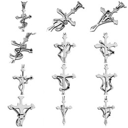 Wholesale Twelve South Wholesale - Brand new Twelve Constellation Necklace Cross Individual Titanium Steel Strap WFN038 (with chain) mix order 20 pieces a lot