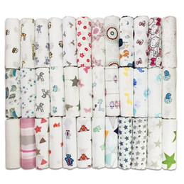 Wholesale Muslin Wraps - Baby Muslin Swaddles Infant Ins Blankets Muslin Tree Wraps Newborn Nursery Bedding Swaddling Bath Towels Quilt Robes 14 design KKA1463