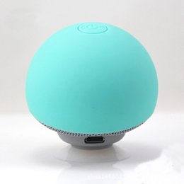 Wholesale Small Portable Radio Speaker - Cartoon small mushroom speaker Suction cup creative mini speaker Portable Bluetooth speaker Mobile tablet stand Outdoor small audio