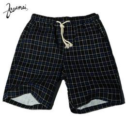 Wholesale Hot Micro Pants - Wholesale- KUAMAI Hot! Brand Mens Casual Shorts High Quality Plaid Large Size Fashion Comfortable Micro-Bomb Straight Men Short Pants