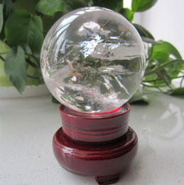 Wholesale Quartz Clear Crystal Ball Sphere - SUIRONG---429+++Clear White Quartz Crystal Sphere Ball Healing Natural