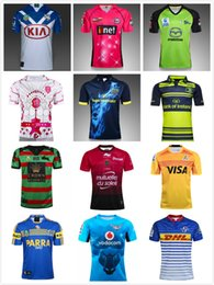 Wholesale Blue Rhino - 17 18 Leeds Rhinos RAIDER Toulon Munster eels bulls South Sydney rabbit Thunder 6Eers Oakland Paris Jaguares bulldogs Leinster rugby jersey