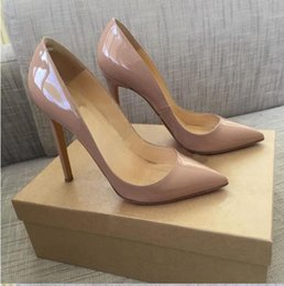 Wholesale Chocolate Careers - Fashion women shoes black patent leather Red Bottom high heels thin heels pumps wedding shoes dress shoes 8cm 10cm 12cm height